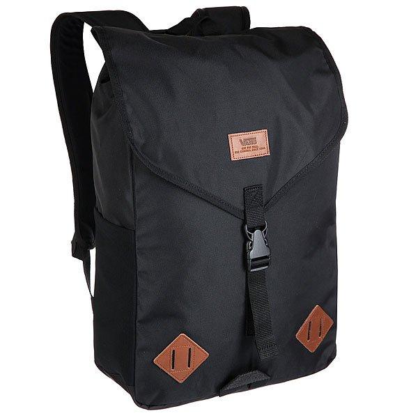 Рюкзак туристический Vans Veer Backpack True BlackVans Veer Backpack — классический городской рюкзак в безупречном исполнении Vans. Изготовленный из прочного нейлона, он имеет одно большое отделение с застежкой на клапан. Внутри расположен специальный карман для ноутбука. На лицевой стороне расположен логотип бренда. Мягкие регулируемые лямки рюкзака способствуют поглощению и равномерному распределению нагрузки на плечи. Vans Veer Backpack — практичный рюкзак, который станет незаменимым аксессуаром в динамичной городской жизни.Характеристики:Вместительное отделение на клапане.Отделение для ноутбука. Логотип на внешней стороне. Боковой карман.<br><br>Цвет: черный<br>Тип: Рюкзак туристический<br>Возраст: Взрослый<br>Пол: Мужской