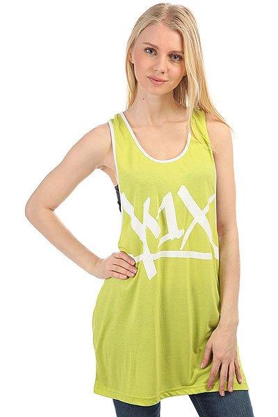 Майка женская K1X Tear It Up Tank Top Volt/White<br><br>Цвет: зеленый,белый<br>Тип: Майка<br>Возраст: Взрослый<br>Пол: Женский
