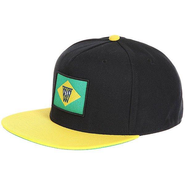 Бейсболка с прямым козырьком K1X Noh Brazil Snapback Cap Black/Yellow<br><br>Цвет: черный,желтый<br>Тип: Бейсболка с прямым козырьком<br>Возраст: Взрослый