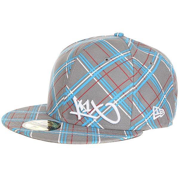 Бейсболка с прямым козырьком K1X Check It Out Grey/Beig<br><br>Цвет: серый<br>Тип: Бейсболка с прямым козырьком<br>Возраст: Взрослый