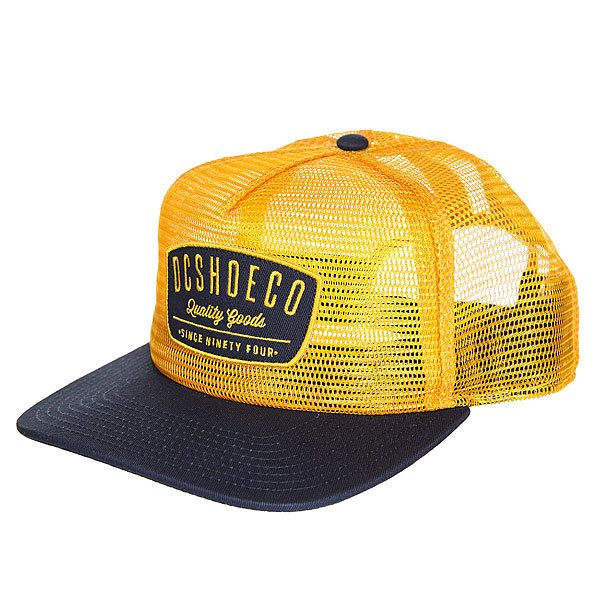 Бейсболка с сеткой DC Carnoble Amber Gold рубашка в клетку dc shoes reedsbirg ls amber gold