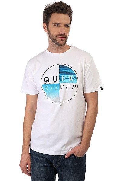 Футболка Quiksilver Blazed White<br><br>Цвет: белый<br>Тип: Футболка<br>Возраст: Взрослый<br>Пол: Мужской