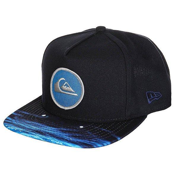 Бейсболка с прямым козырьком Quiksilver Aquablunt Navy Blazer<br><br>Цвет: синий,черный<br>Тип: Бейсболка с прямым козырьком<br>Возраст: Взрослый<br>Пол: Мужской