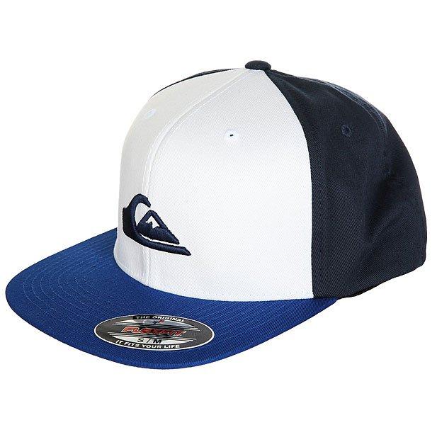 Бейсболка с прямым козырьком Quiksilver Stuckles Vallarta Blue<br><br>Цвет: синий,белый<br>Тип: Бейсболка с прямым козырьком<br>Возраст: Взрослый