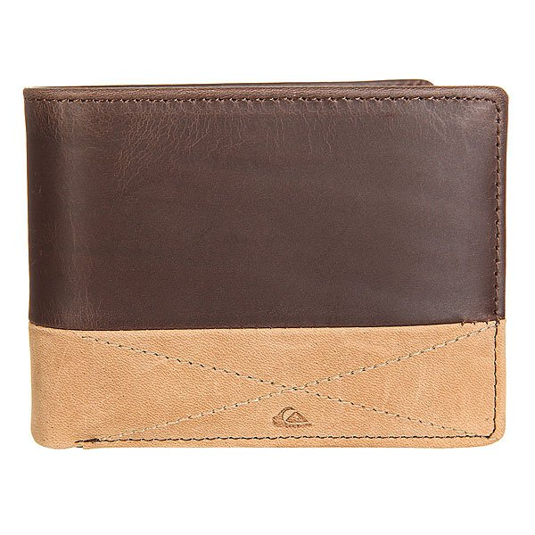 Купить со скидкой Кошелек Quiksilver New Classical I Choc/Cognac Leather