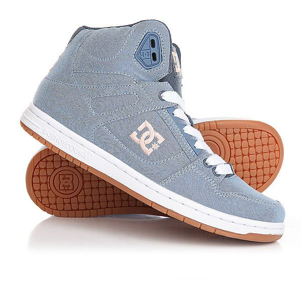 Кеды кроссовки высокие женские DC Rebound High Tx Navy/Gum dc shoes кеды dc shoes rebound high tx se chambray fw17 5