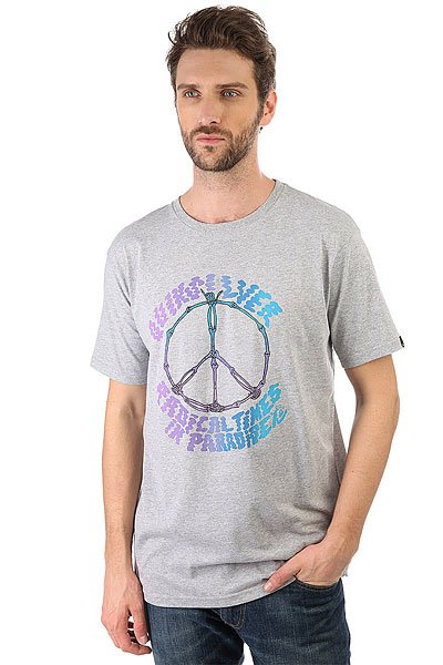Футболка Quiksilver Peaceskull Athletic Heather quiksilver футболка quiksilver snake fined charcoal heather