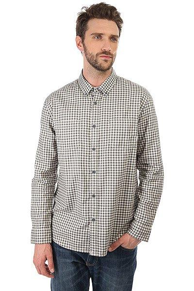 Рубашка в клетку Quiksilver Fortenightsls Quiet Shade Gingham<br><br>Цвет: серый<br>Тип: Рубашка в клетку<br>Возраст: Взрослый<br>Пол: Мужской