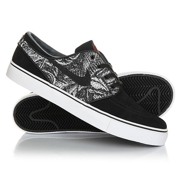 Кеды кроссовки низкие Nike Zoom Stefan Janoski Real Black кеды кроссовки высокие nike sb zoom dunk high pro black