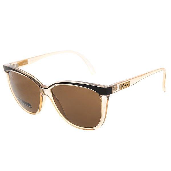 Очки женские Roxy Jade Shiny Crystal ChampaЖенские солнцезащитные очки Jade из новой коллекции Roxy.Технические характеристики: Оправа из пропионата.Ударопрочные линзы из поликарбоната.100% УФ защита от солнца.Линзы 3 категории защиты для очень солнечной погоды.Сделано в Италии.<br><br>Цвет: желтый<br>Тип: Очки<br>Возраст: Взрослый<br>Пол: Женский