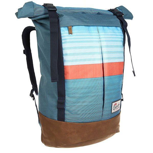 Рюкзак туристический Quiksilver New Roll Top Nasturticm EverydayТуристический рюкзак New Roll для активного отдыха и путешествий. В нем есть все, что нужно для комфортного отдыха: удобный дизайн, множество карманов и достаточный объем для всего необходимого.Технические характеристики: Дизайн Roll-top.Одно основное отделение с застежкой на пряжках.Отделение для ноутбука.Передний карман на молнии.Верхний карман на молнии.Эргономичные лямки.Плотная спинка из сетки.Нагрудный ремень.Объем 29 литров.<br><br>Цвет: коричневый,голубой<br>Тип: Рюкзак туристический<br>Возраст: Взрослый