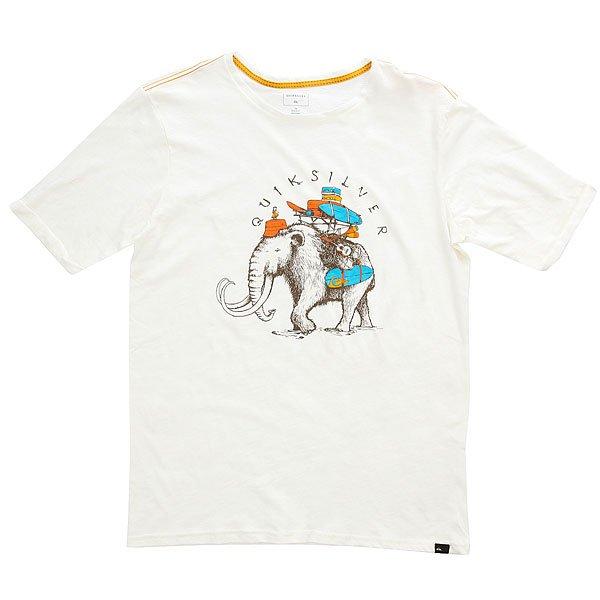 Футболка детская Quiksilver Sssluteythmomot Snow White<br><br>Цвет: белый<br>Тип: Футболка<br>Возраст: Детский