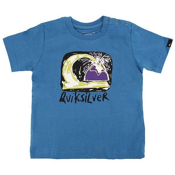 Футболка детская Quiksilver Sscltebamagvolc I Vallarta Blue<br><br>Цвет: синий<br>Тип: Футболка<br>Возраст: Детский