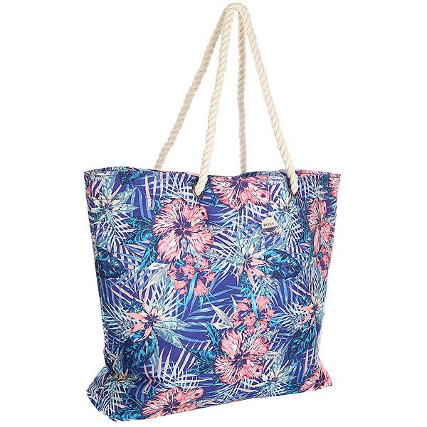 Сумка женская Roxy Printedtropical Royal Blue Beyond Lo roxy сумка женская roxy needle tote patriot blue