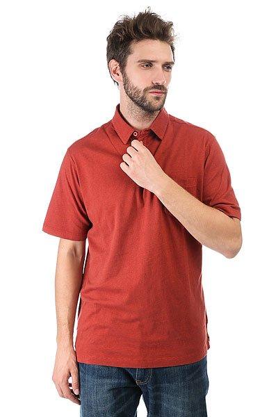 Поло Quiksilver Strolo 6 Red Ochre<br><br>Цвет: бордовый<br>Тип: Поло<br>Возраст: Взрослый<br>Пол: Мужской