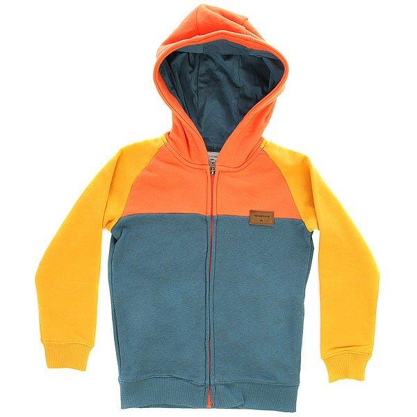 Толстовка классическая детская Quiksilver Whatevermumyth Golden Glow<br><br>Цвет: оранжевый,синий<br>Тип: Толстовка классическая<br>Возраст: Детский