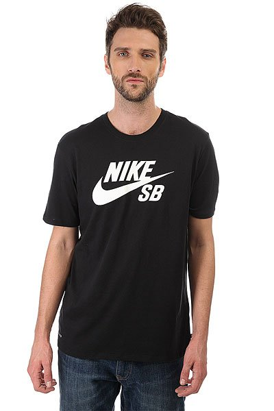 Футболка Nike SB LOGO Black<br><br>Цвет: черный<br>Тип: Футболка<br>Возраст: Взрослый<br>Пол: Мужской