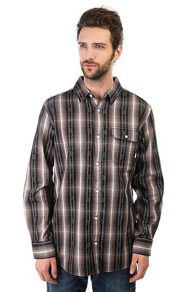 Рубашка Burton Mns Fletcher Ls Wvn True Black<br><br>Цвет: черный,серый<br>Тип: Рубашка<br>Возраст: Взрослый<br>Пол: Мужской