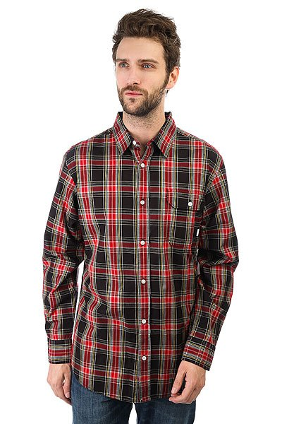 Рубашка в клетку Burton Mns Fletcher Ls Wvn True Black Plaid