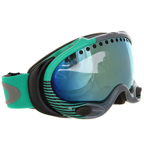 Маска для сноуборда Oakley A Frame Sw Block Stripes Mint Leaf Future Primitive Mint W/Emerald Iridium