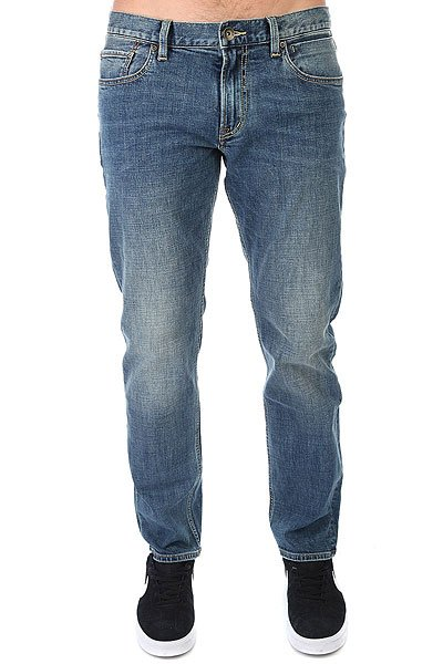 Джинсы прямые Quiksilver Sequelmediu Medium Blue