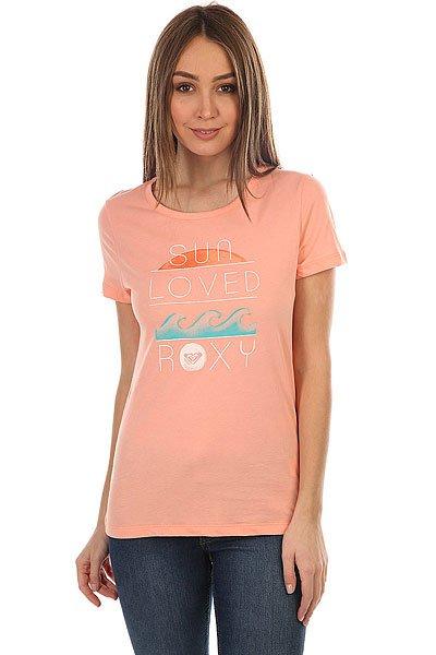 Футболка женская Roxy Itty Be Loved<br><br>Цвет: розовый<br>Тип: Футболка<br>Возраст: Взрослый<br>Пол: Женский