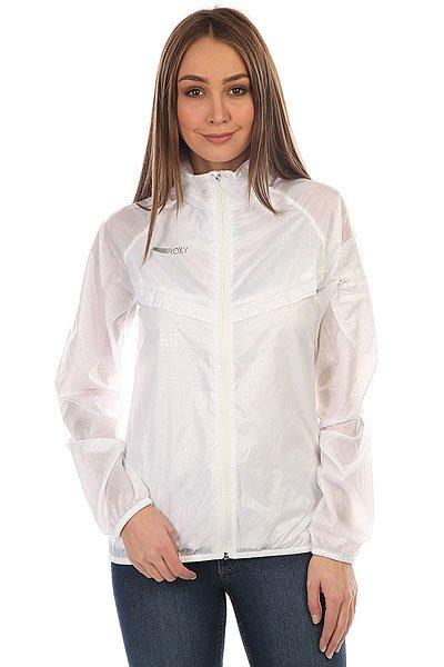 Ветровка женская Roxy Tricabee MarshmellowСпортивная ветровка из чуть прозрачной легкой ткани замечательна своим изящным минимализмом и дополнена вентиляцией на груди; вы можете убрать ее капюшон внутрь воротника, так что у вас в каком-то смысле получается две куртки в одной – и два разных стиля! Очень практично.Технические характеристики: Ветровка из прозрачной легкой ткани.Сеточная подкладка в районе груди и эластичные манжеты и подол защищают во время ветра или дождя.Вентиляционные прорези на груди и спине.Капюшон можно убрать внутрь воротника.Специальный медиа карман на рукаве.Светоотражающий логотип ROXY.<br><br>Цвет: белый<br>Тип: Ветровка<br>Возраст: Взрослый<br>Пол: Женский