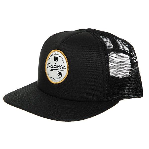 Бейсболка с сеткой DC Schmades Black<br><br>Цвет: черный<br>Тип: Бейсболка с сеткой<br>Возраст: Взрослый