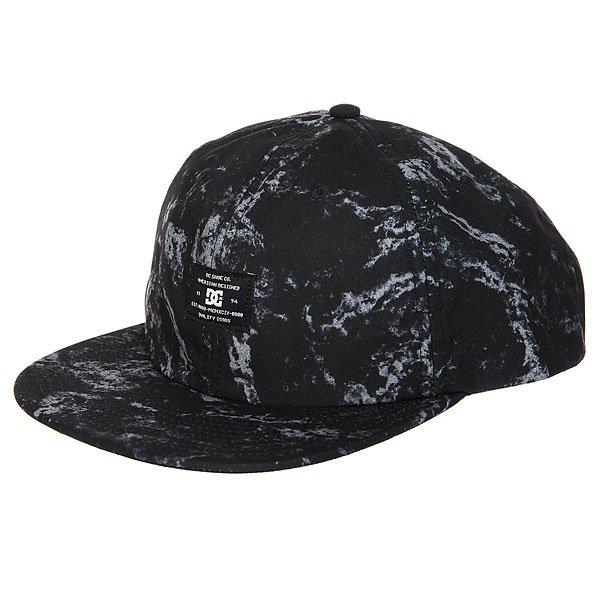 Бейсболка с прямым козырьком DC Filth Black Storm Jacquard<br><br>Цвет: черный,серый<br>Тип: Бейсболка с прямым козырьком<br>Возраст: Взрослый