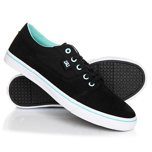 Кеды кроссовки низкие женские DC Tonik W Black/Aqua