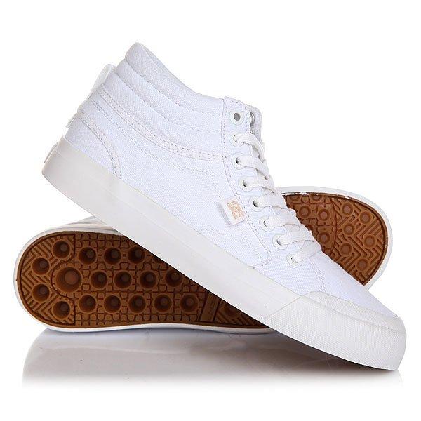 Кеды кроссовки высокие женские DC Evan Hi Tx White dc shoes кеды dc heathrow se 11