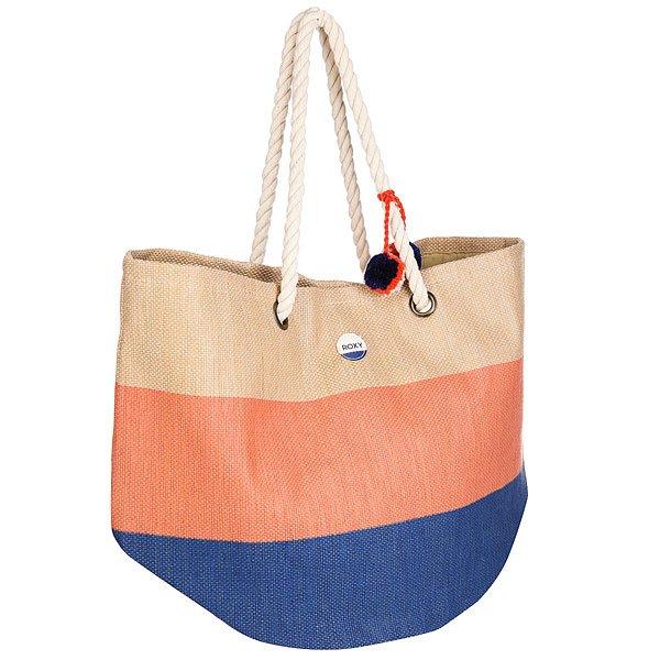 Сумка женская Roxy Sun Seeker NaturalДополните свой яркий летний образ этой большой пляжной сумкой из текстиля от культового бренда Roxy! Характеристики:Основное вместительное отделение на молнии. Удобные лямки. Контрастная окантовка. Внутренний кармашек на молнии.Текстильная подкладка.<br><br>Цвет: бежевый<br>Тип: Сумка<br>Возраст: Взрослый<br>Пол: Женский