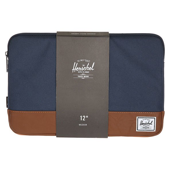 Чехол для ноутбука Herschel Heritage Sleeve For Macbook Navy/Tan Synthetic Leather