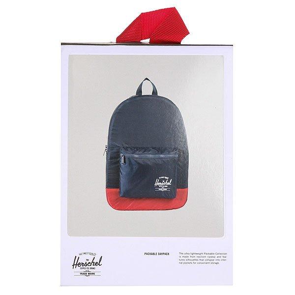 Рюкзак городской Herschel Packable Daypack Navy/Red