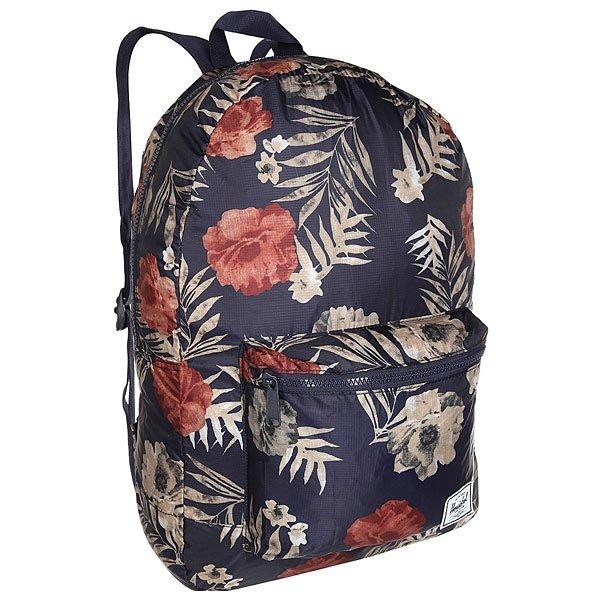 Рюкзак городской Herschel Packable Daypack Peacoat FloriaКомпактный рюкзакHerschel Packable Daypackбольше, чем рюкзак благодаря тому, что он легко трансформируетсяв свой собственный карман, который занимает минимум места в его сложенном виде. Полный объем рюкзака составляет целых 24,5 литра. Поэтому вы сможете взять его как в путешествия, так и на учебу либо работу.Характеристики:Рюкзак упаковывается в свой собственный карман. Регулируемые лямки. Ручка для переноски.Единый отсек на молнии. Внешний карман на молнии. Фирменный логотип на внешнем кармане.<br><br>Цвет: синий,мультиколор<br>Тип: Рюкзак городской<br>Возраст: Взрослый