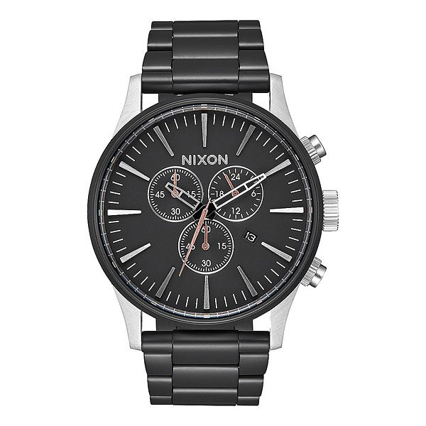 Кварцевые часы Nixon Sentry Chrono Black/Surplus кварцевые часы nixon sentry chrono black rose gold