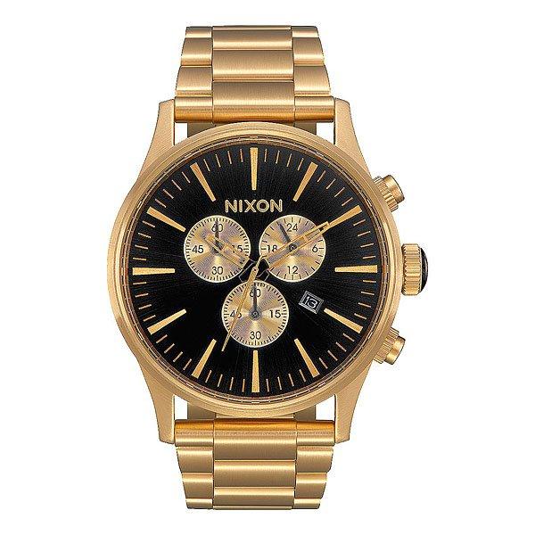 Кварцевые часы Nixon Sentry Chrono Black/Rose Gold кварцевые часы nixon sentry chrono black rose gold