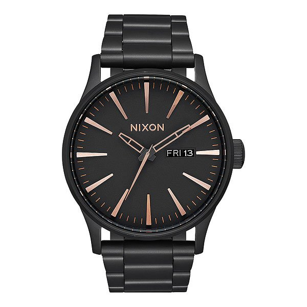 Кварцевые часы Nixon Sentry Black/Rose Gold