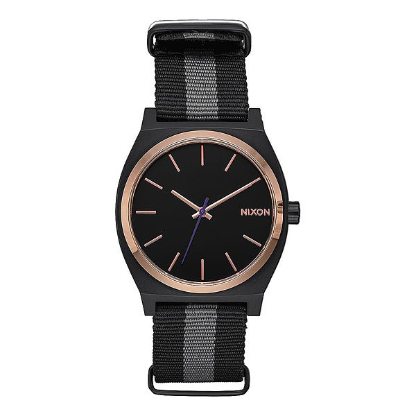 Кварцевые часы Nixon Time Teller Black/Rose Gold/Charcoal часы nixon corporal ss matte black industrial green