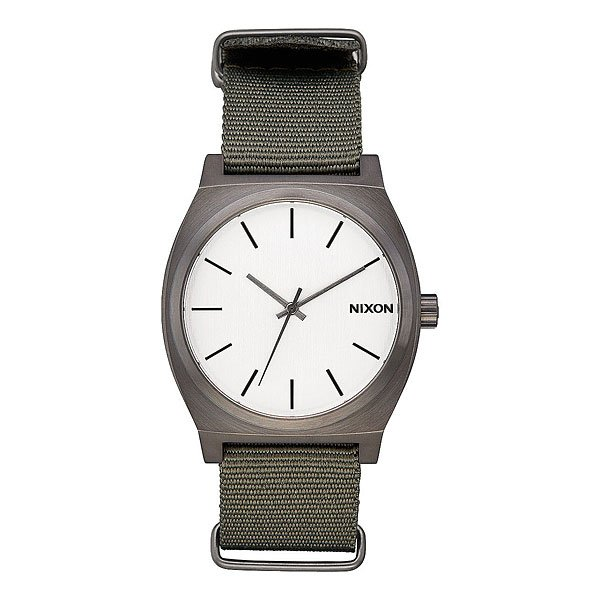 Кварцевые часы Nixon Time Teller Gunmetal/Silver/Surplus часы nixon corporal ss silver gunmetal