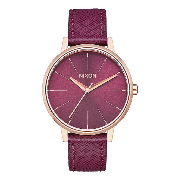 Кварцевые часы женские Nixon Kensington Leather Rose Gold/Bordeaux часы женские nixon kensington all white gold o s