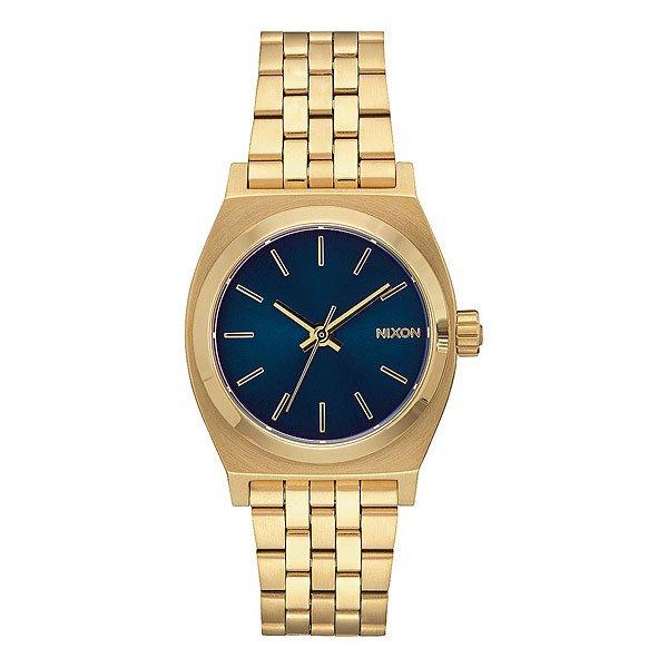 Кварцевые часы женские Nixon Medium Time Teller Light Gold/Cobalt