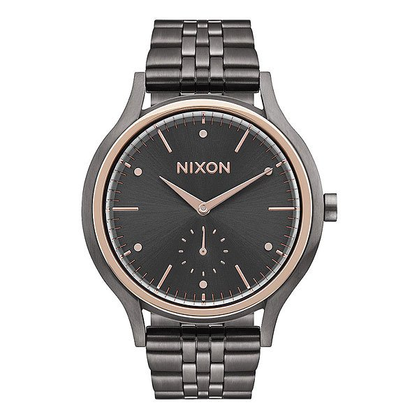 Кварцевые часы женские Nixon Sala Gunmetal/Rose Gold часы nixon corporal ss gray rose gold