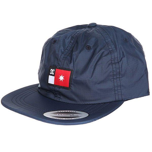 Бейсболка с прямым козырьком DC Skate Tech Hat Black Iris<br><br>Цвет: синий<br>Тип: Бейсболка с прямым козырьком<br>Возраст: Взрослый
