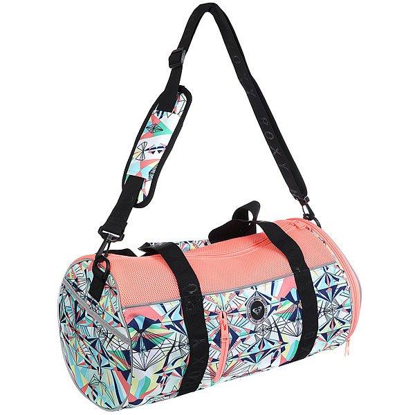 Сумка спортивная женская Roxy El Ribon2 Lady PinkСпортивная сумка El Ribon2 среднего размера из новой коллекции Roxy.Технические характеристики: Боковой карман для обуви.Ремни для крепления коврика для занятий йогой или полотенца.Сеточные вставки.Съемная и регулируемая в длину заплечная лямка.Каучуковая нашивка.Объем – 37 л.<br><br>Цвет: розовый,мультиколор<br>Тип: Сумка спортивная<br>Возраст: Взрослый<br>Пол: Женский