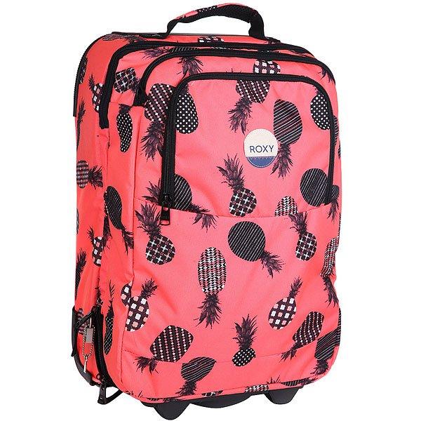 Сумка дорожная женская Roxy Wheelie Lugg Ax Neon Grapefruit сумка дорожная burton wheelie dbl deck hawaiian heather