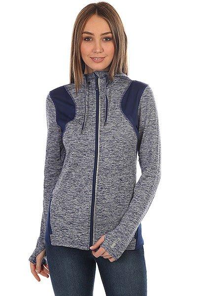 цена  Толстовка сноубордическая женская Roxy Baylee Fleece Blue Depths  онлайн в 2017 году