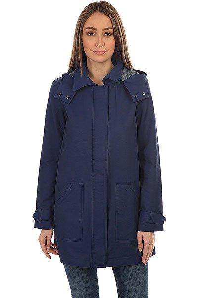 Куртка женская Roxy Gilipeak Blue DepthsЖенский дождевик с капюшоном Gili Peak из новой коллекции Roxy.Технические характеристики: Длинный прямой крой.Водоотталкивающая ткань из хлопка и нейлона.Крупные передние карманы.Съемный капюшон.Застежка на молнии с ветрозащитным клапаном.<br><br>Цвет: синий<br>Тип: Куртка<br>Возраст: Взрослый<br>Пол: Женский