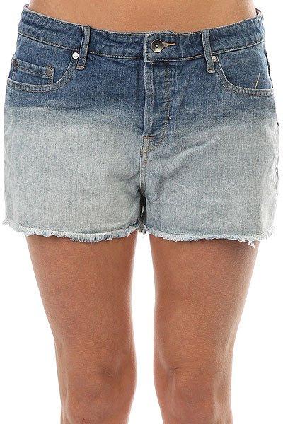 Купить со скидкой Шорты джинсовые женские Roxy Lovelydeep Dye J Dnst Medium Blue