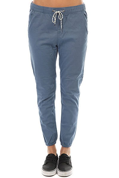 цены на Штаны прямые женские Roxy Easybeachy Captains Blue в интернет-магазинах